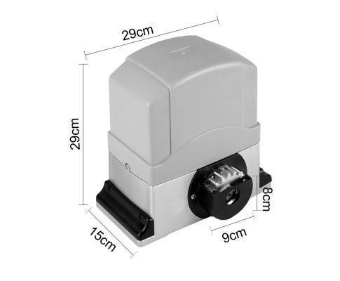 Sliding gate motor electric 6m rail 2 x remotes safety for Gate motor installation prices