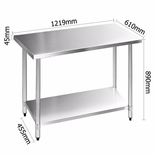Stainless Steel Food Grade Bench Table Food Preperation Home - Food grade stainless steel table
