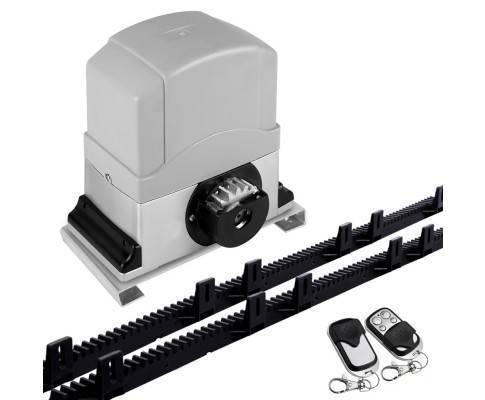 Sliding gate motor electric 6m rail 2 x remotes safety for Electric motor for sliding gate