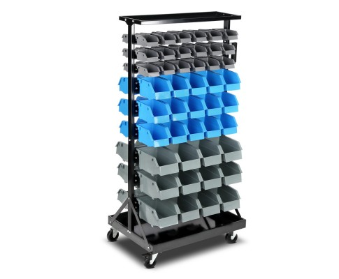Storage Rack 90 Bin Stand On Heavy Duty Castors Three Size