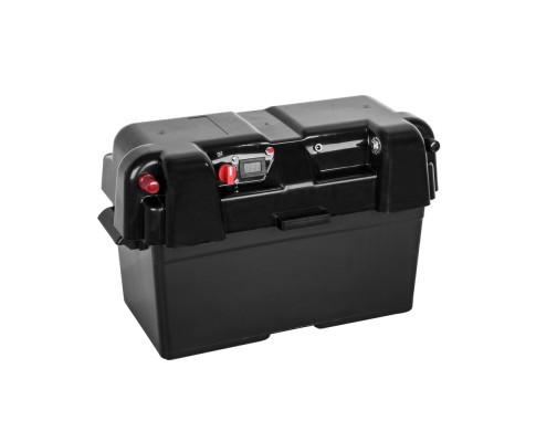new arrival 0cb08 10cf9 Battery Storage Box Multi Function USB/DC Port/LED Meter Boat/Car/Caravan