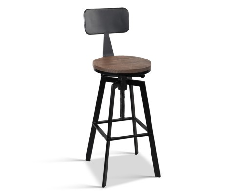 Bar Stool Industrial Unique Design Back Support Wooden