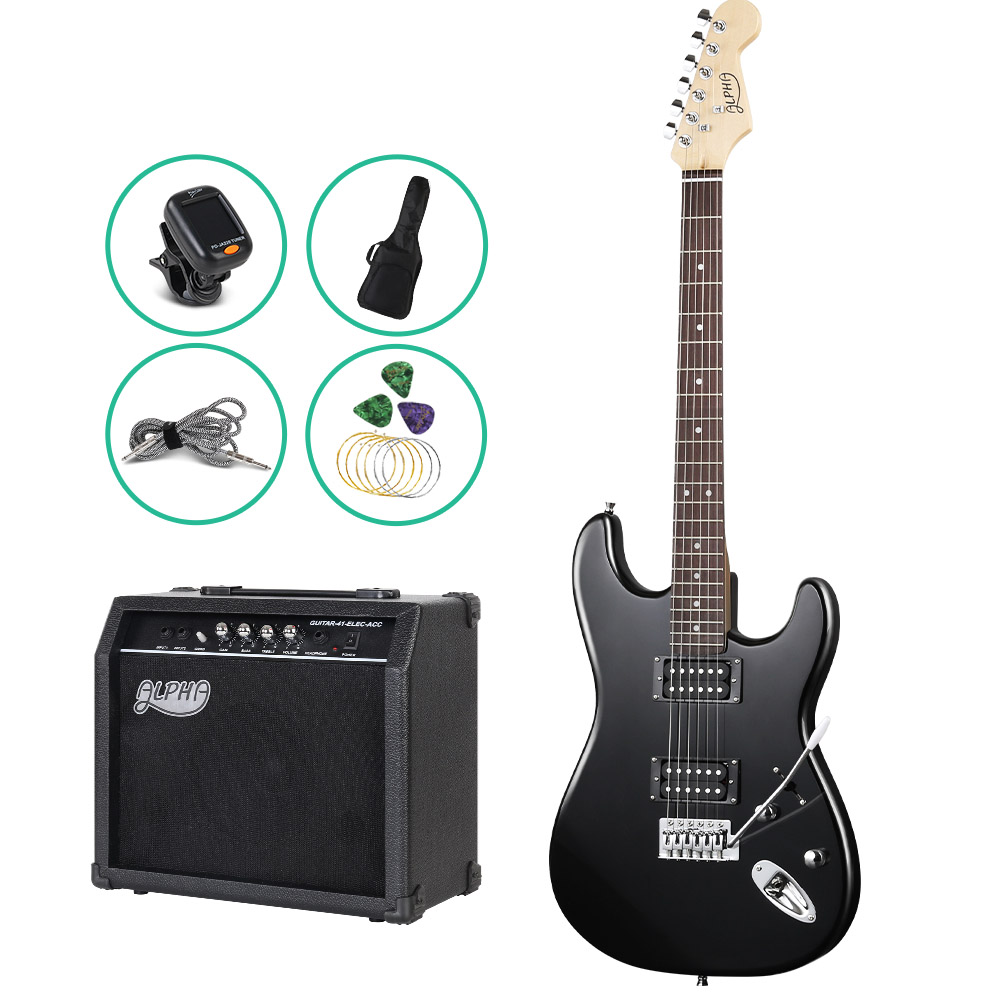 electric guitar solid body 25 watt amp 8 speaker carry bag great sound safety variety store. Black Bedroom Furniture Sets. Home Design Ideas