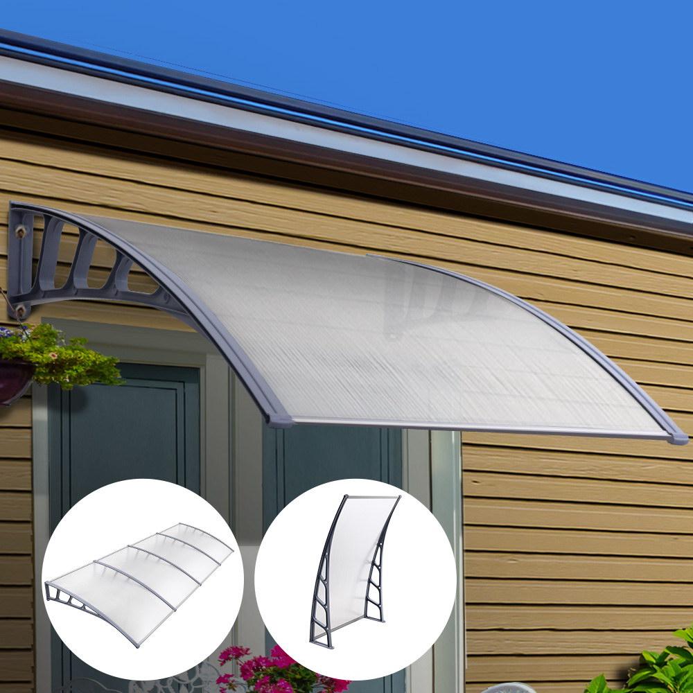 window door awning door canopy outdoor patio sun shield 1 5m x 4m diy